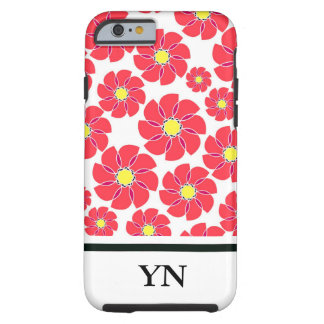 Stylized Flowers Tough iPhone 6 Case