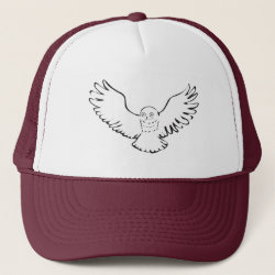 Stylized Flying Snowy Owl Trucker Hat