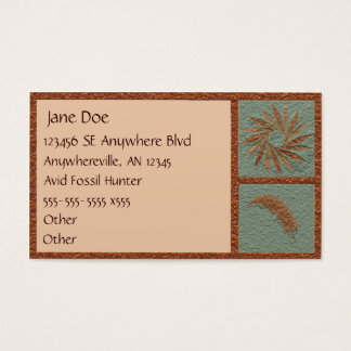 Stylized Fossil Business Card