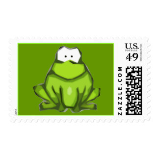 Stylized Frog Postage Stamps