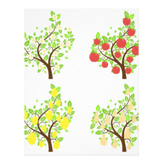 Stylized Fruit Trees2 Letterhead