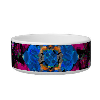 Stylized Geometric Floral Ornate Bowl
