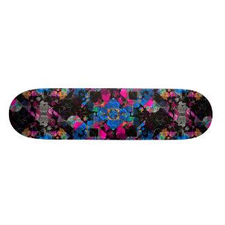 Stylized Geometric Floral Ornate Skateboard Deck