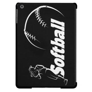 Stylized Girl Softball Player Fielding iPad Air Cover
