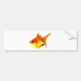 Stylized Goldfish Bumper Sticker
