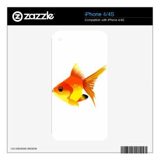 Stylized Goldfish iPhone 4S Skin