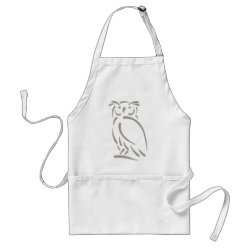 Apron with Stylized Great Horned Owl design