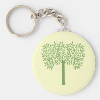 Stylized Green Tree Keychain