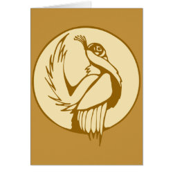 Greeting Card with Stylized Grouse design