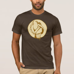 Men's Basic American Apparel T-Shirt with Stylized Grouse design