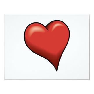 "Stylized Heart 4.25"" X 5.5"" Invitation Card"