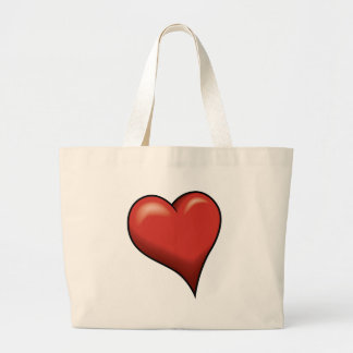 Stylized Heart Canvas Bags