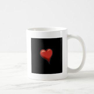 Stylized Heart Coffee Mugs