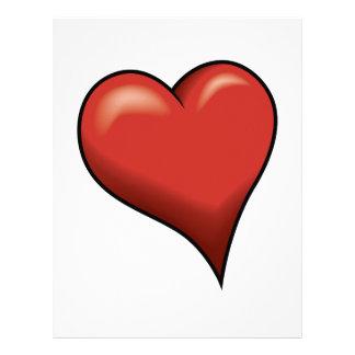Stylized Heart Custom Letterhead