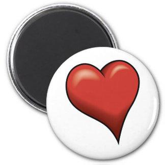Stylized Heart Fridge Magnets