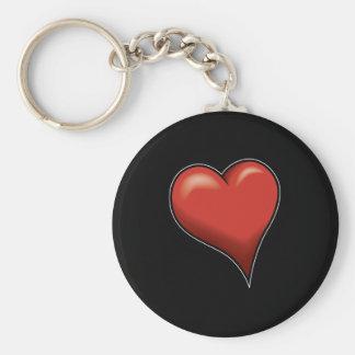 Stylized Heart Keychain