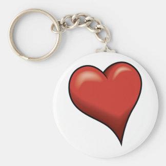 Stylized Heart Keychains