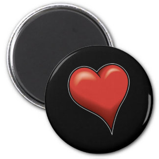 Stylized Heart Magnets