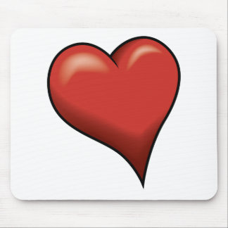 Stylized Heart Mouse Pads