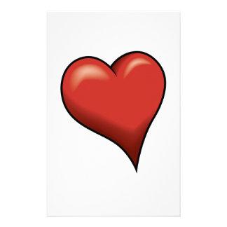 Stylized Heart Personalized Stationery