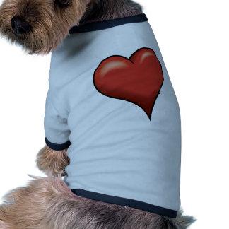 Stylized Heart Pet T Shirt