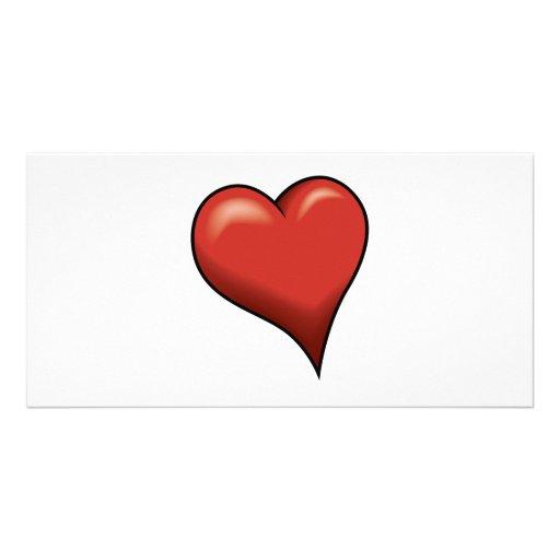 Stylized Heart Photo Card