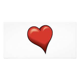 Stylized Heart Photo Greeting Card