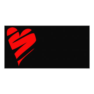 Stylized Heart Custom Photo Card