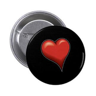 Stylized Heart Pinback Buttons