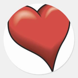 Stylized Heart Round Sticker
