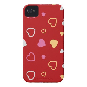 Stylized hearts pattern 2 Case-Mate iPhone 4 case