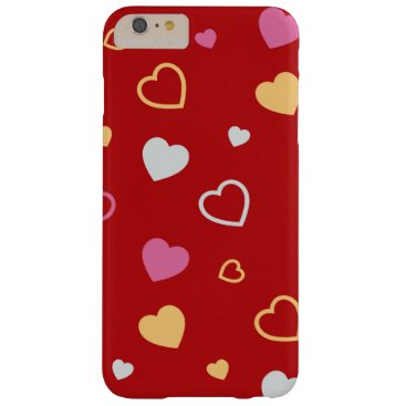 Stylized hearts pattern 2 barely there iPhone 6 plus case