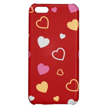 Stylized hearts pattern 2 case for iPhone 5C