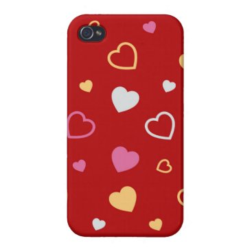 Stylized hearts pattern 2 case for iPhone 4