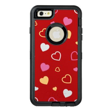 Stylized hearts pattern 2 OtterBox defender iPhone case