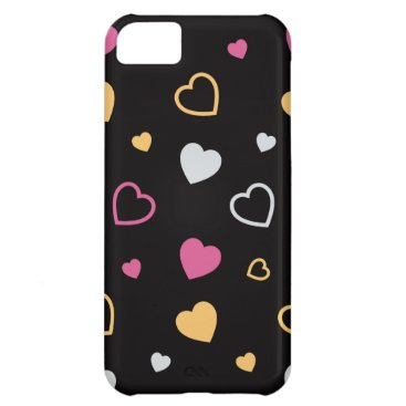 Stylized hearts pattern 3 case for iPhone 5C
