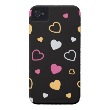 Stylized hearts pattern 3 Case-Mate iPhone 4 case
