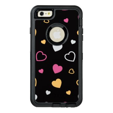 Stylized hearts pattern 3 OtterBox defender iPhone case