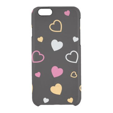 Stylized hearts pattern 3 clear iPhone 6/6S case