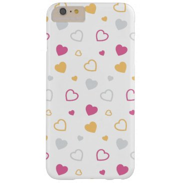Stylized hearts pattern barely there iPhone 6 plus case