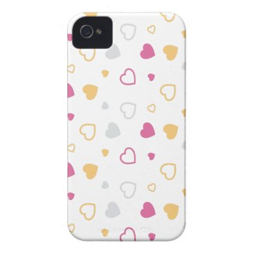 Stylized hearts pattern Case-Mate iPhone 4 case