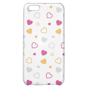Stylized hearts pattern case for iPhone 5C