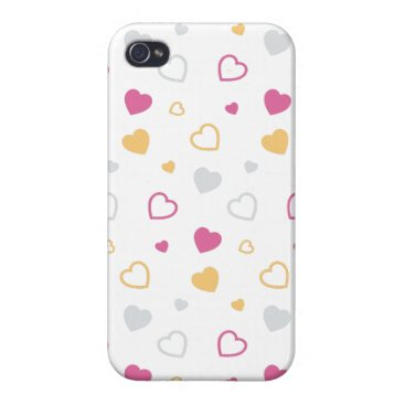 Stylized hearts pattern case for iPhone 4
