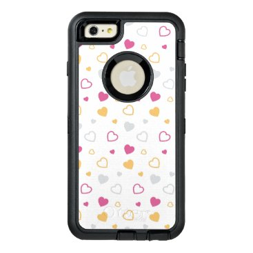 Stylized hearts pattern OtterBox defender iPhone case