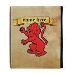 Stylized Heraldic Lion iPad Folio Cover