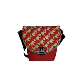 Stylized Heraldic Lion Messenger Bag
