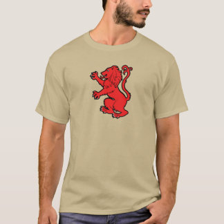 Stylized Heraldic Lion with banner T-Shirt
