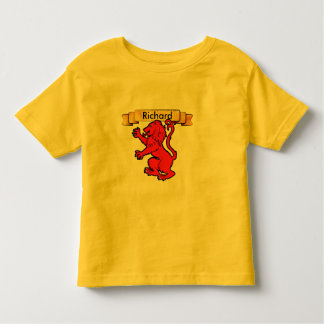 Stylized Heraldic Lion with banner Toddler T-shirt