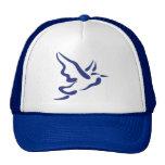 Stylized Heron in Flight Mesh Hat
