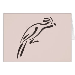 Greeting Card with Stylized Hoatzin design